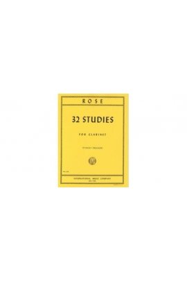 32 STUDIES FOR CLARINET ROSE S.DRUCKER IMC IMC43066A